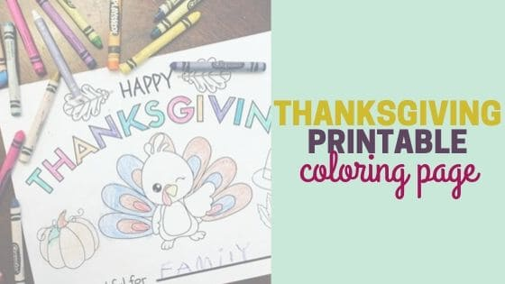 Free Thanksgiving Printable Coloring Page | Crafts for Kids