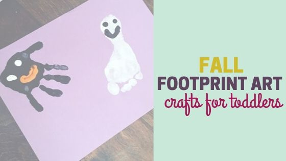 Fall Footprint Art | Crafts for Toddlers