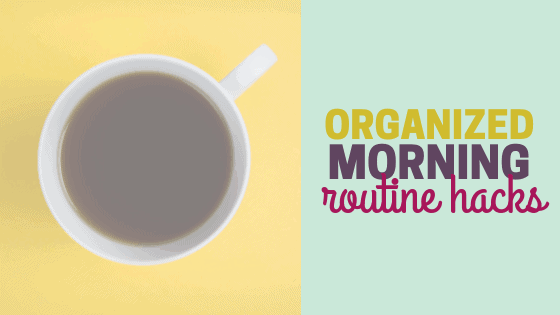 Organized Morning Routine for Busy Working Moms