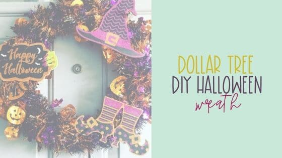 $4 Dollar Tree DIY Halloween Wreath