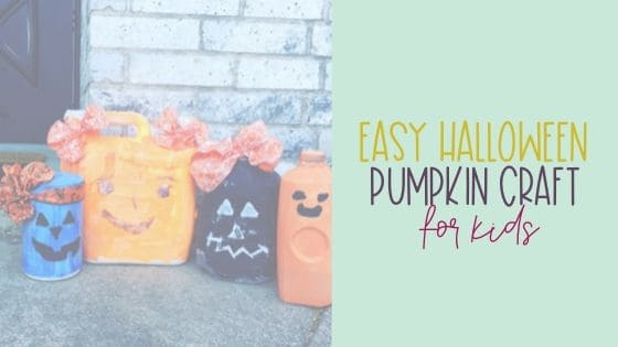 Easy Halloween Pumpkin Craft for Kids