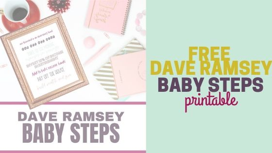 Free Dave Ramsey Baby Steps Printable PDF