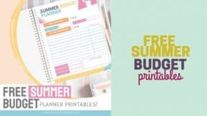Summer budget template