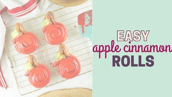 Easy Apple Cinnamon Rolls for Back to School Breakfast