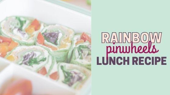 Turkey and Cheese Rainbow Pinwheels – Easy Lunch Box Idea