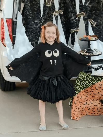 all black bat halloween costume