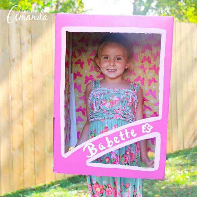 DIY Halloween Costume for Kids, doll in box costume