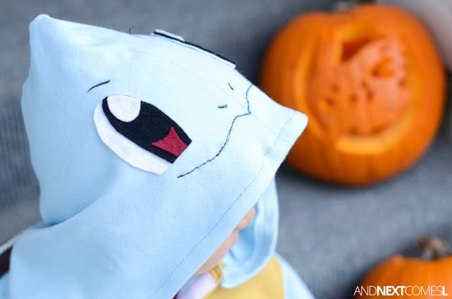 light blue squirtle halloween costume