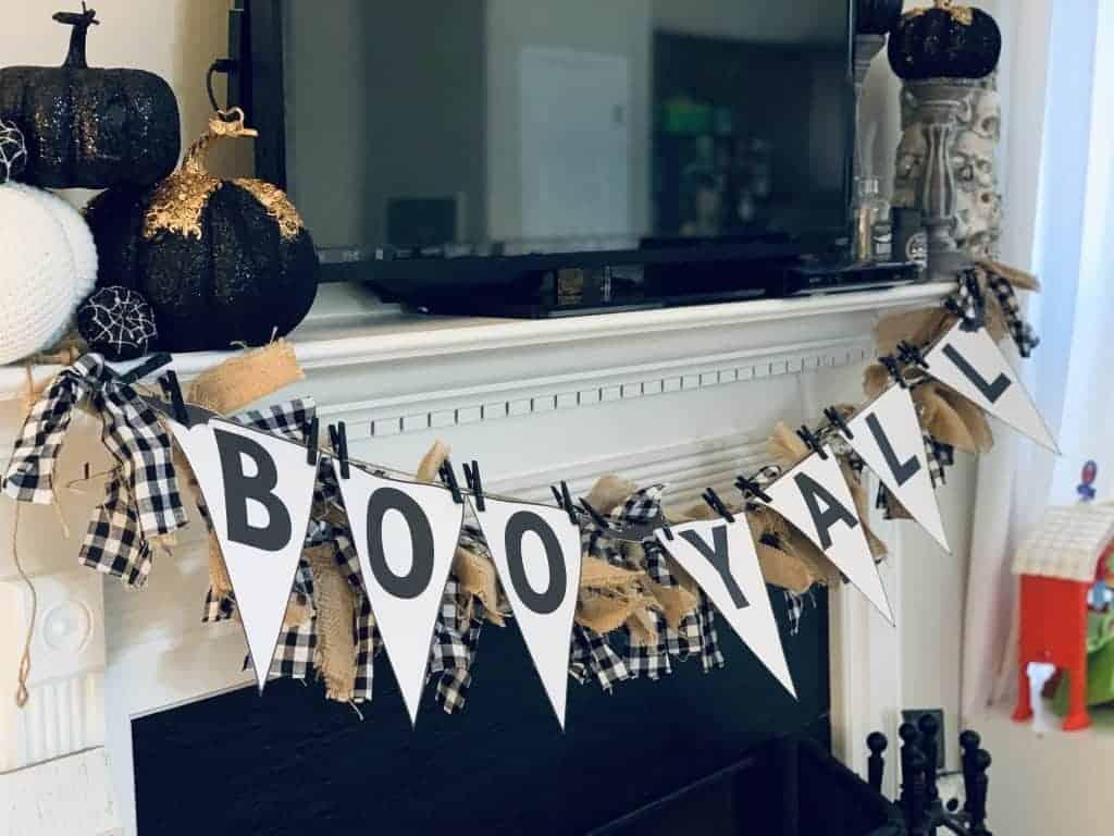 Halloween homemade banner idea